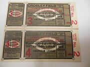 1939 World Series Game 3 And 4 Full Tickets Cincinnat Reds Vs Ny Yankees Rare