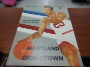 1957 Official Ncaa College Basketball Program Maryland Georgetown Rare Good Cond