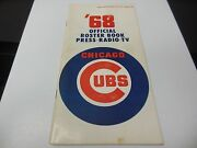 1968 Chicago Cubs Mlb Baseball Official Media Guide Roster Book Rare Mid Season