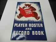 1940 Chicago Cubs Mlb Baseball Official Media Guide Roster Book Rare