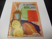 1954 Usc Vs Notre Dame Fighting Irish Ncaa Football Program Nd Stadium Rare