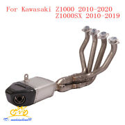 Motorcycle Exhaust Pipe Muffler Escape Connection Tube System For Kawasaki Z1000