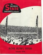 1956 January Football Magazine Michigan State Spartans Rose Bowl Issue Good Rare