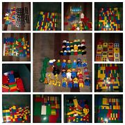 Huge 100 Pure Clean Duplo Lego Lot 30+lbs Bricks Figures Animals Special Trains