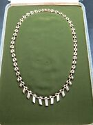 Vintage 9ct Gold Cleopatra Link Necklace Chain 16 Inch 1965 Original Box