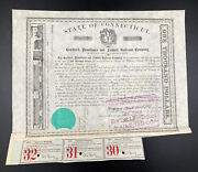 1866 1878 State Of Connecticut 1000 Hartford Providence And Fishkill Railroad Co