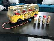 Vintage Fisher Price Little People Safety School Bus 983