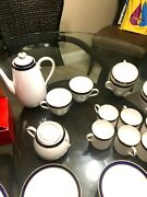 Spode Vintage Consul Cobalt 6 Full Place Setting Y7332 Great Condition
