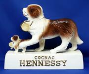 Not For Sale Hennessy St. Bernard Parent And Child Dog Figurine Figurine