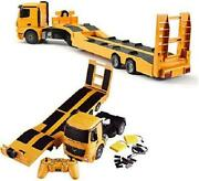 Remote Control Rc Mercedes-benz Truck Flatbed Semi Trailer Hobby Toy For Kids Us