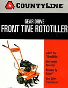 Countryline Gear Driven Front Tine Rototiller 20979 W/kohler Engine Used 4 Hrs