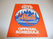 1975 Baseball Schedule Exc Condition New York Mets Rare
