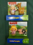 Fisher Price Little People Farm Toy Farmer And Animals Figurine Sets