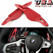 Red Aluminum Steering Wheel Shift Paddle Extension Cover For New Bmw 5 7 X3/4 X5