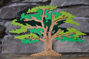 Summer Green Shade Tree Wood Puzzle Toy Amish Made In The Usa Nature Art