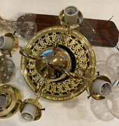 Harbor Breeze Vintage New Orleans Victorian Style Ceiling Fan With Lights Rare