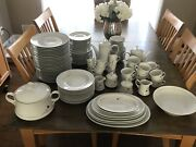 Mitterteich Bavaria 127 Piece China Set Antique Germany 4 Tiny Chips See Pics