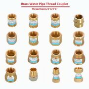 1/2 3/4 1 Female/male Thread Brass Coupler Connector Joiner Fitting Adapter