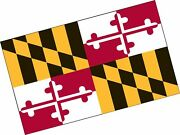 Valley Forge Flag 5-foot By 8-foot Nylon Maryland State Flag With Canvas Head...