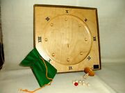 Vintage 1970's Nib Solid Maple Scandin Roulette Game, Board 10 X 10 X 1 1/4
