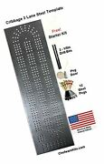 Cribbage Board Template 3 Lane Starter Kit With Pegs And Drill Bits