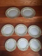 Noritake China Nanette Made In Occupied Japan Set Of 8 Dinner Plates 10 Inches