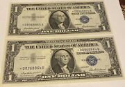 2 A Pair 864b-865b 1 Very Rare Star Notes⭐️silver Certificates 1957 Consecu