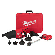 12v Lithiumion Cordless Drain Cleaning Airsnake Airkit Variable Pressure Control
