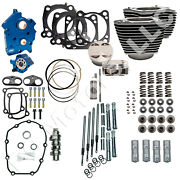 Sands Cycle 128 Engine Kit For 2017+ Milwaukee-eight M8 114 Motor - Chain Drive