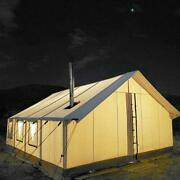 Canvas Wall Tent 16and039x20and039 W/aluminum Framewater Repellent For Outfitter And Winter