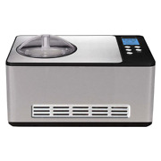 2.1qt Electric Ice Cream Maker Steel Built In Timer Extended Cooling Churn Blade