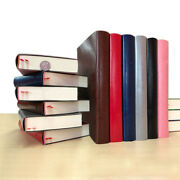 Thick Soft Leather Vintage Journal Notebook Grid Paper Writing Diary 512 Pages