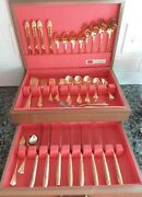 Stanley Roberts Lisette Stainless Rogers Co Korea Silverware Choice /towle Gold