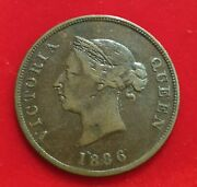 Cyprus 1886 1/2 Piastre Queen Victoria Extremely Rare In Vf Condition