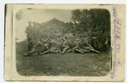 5 Antique Wwi Rppc Photo Postcard Soldiers 107 Infantry Division Army