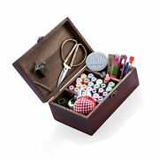 Wooden Sewing Kits Sewing Boxes And Baskets With Sewing Accessories Kit, Good...