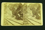 Rare 1870s Stereoview Photo Colorado Central Railroad Rocky Point Ccrr