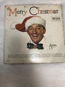 Bing Crosby Merry Christmas 1955 Holiday Music Lp Record Decca Rare Classic Br