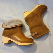 Frye And Co. Womens Odessa Cuff Caramel Snow Boots Size 7 Msrp198