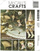 Mccall's M4691 Victorian Christmas Ornaments, Tree, Skirt And Stockings Pattern