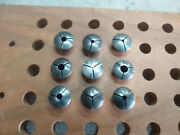 Vintage Watchmaker Jewelers 8 Mm Lathe Wolf Jahn Collets Lot Of 9
