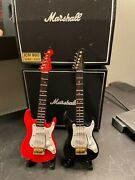 Lot Of 2 Mini Electric Guitars 5.5 Inch Includes Box Guitar Rock Band Dollhouse