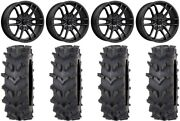 Msa Fang 20 Wheels Black 36 Outback Maxand039d Tires Can-am Defender