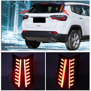 Rear Window Pillar Side Cover Led Brake Light For Jeep Compass 2017-2020