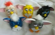 Furby Mcdonalds Happy Meal Toys Vintage 1998 5pc Lot Rolling Ear Wagging Plastic