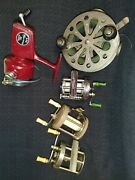 Vintage Fishing Lot Includes Pflueger Taxie 4 Reels 3 Lures And Much More