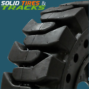 12-16.5/12x16.5/33x12-20 Solid Skid Steer Tires 4+rims Fits Bobcat 9 Pilot Hole
