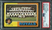 Psa 9 Mint 1975 Topps Royals Team Sheet George Brett Mail-in 72 Gray Rookie 240