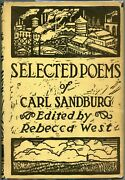 Selected Poems Of Carl Sandburg / First Edition 1926