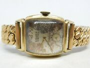 Gruen Precision Very-thin Wind-up Analog Ladies Watch For Parts Or Repairs